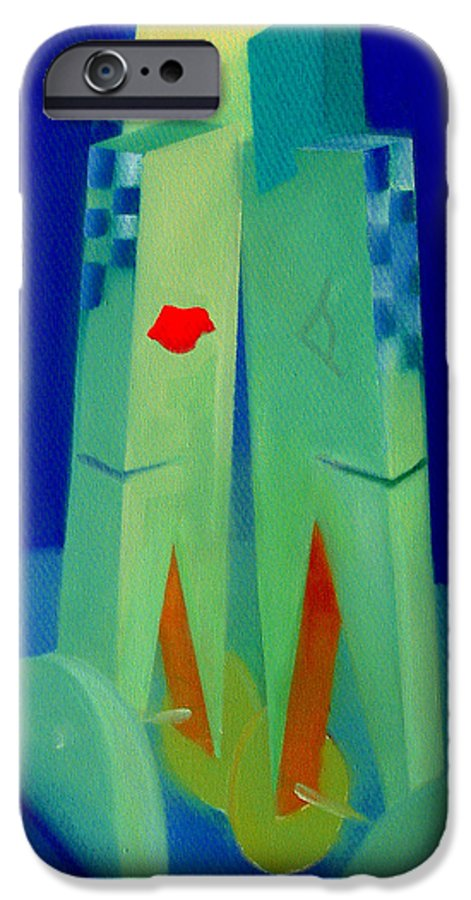 Blue IPhone 6s Case featuring the painting The Kiss by Charles Stuart