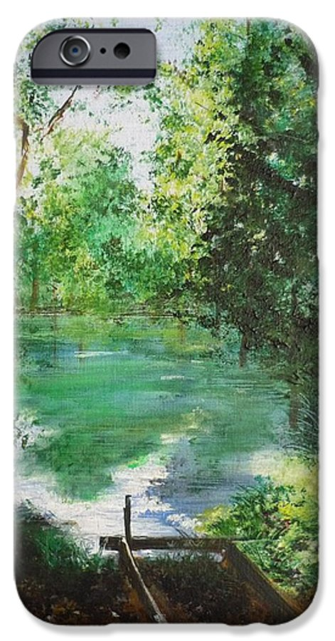 Lake IPhone 6s Case featuring the painting The Lake At Stansted Unfinished by Lizzy Forrester