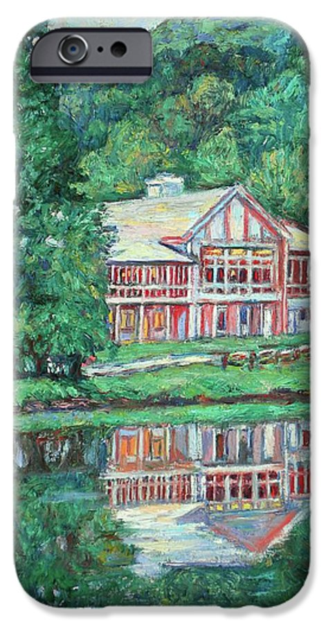 Lodge Paintings IPhone 6s Case featuring the painting The Lodge At Peaks Of Otter by Kendall Kessler