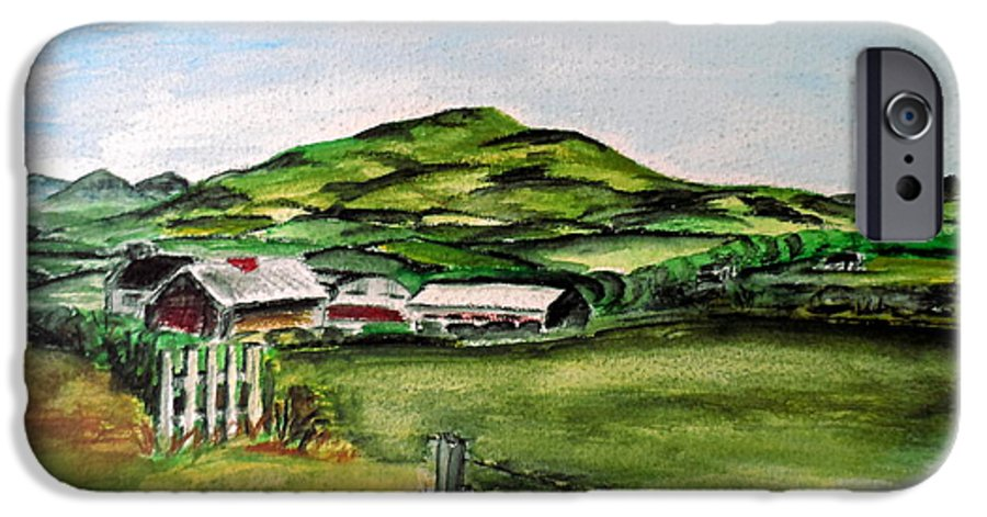 Landscape IPhone 6s Case featuring the painting The Old Farm by Alan Hogan