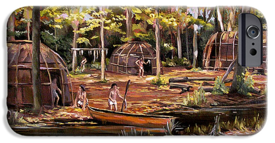 Institute Of American Indian IPhone 6s Case featuring the painting The Pequots by Nancy Griswold