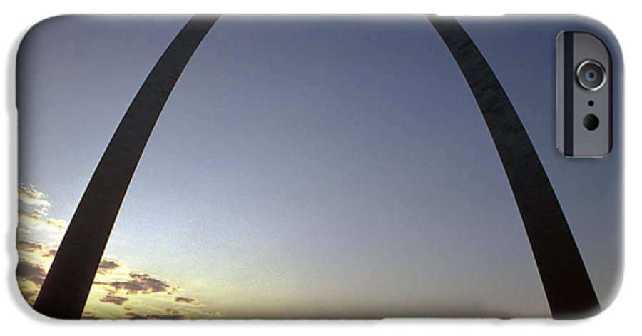 Landmark IPhone 6s Case featuring the photograph The St. Louis Arch by Carl Purcell