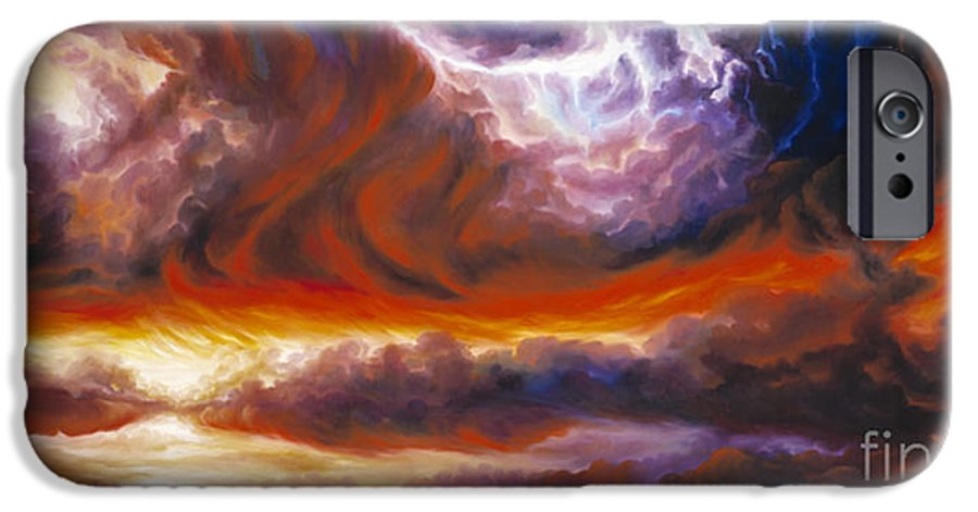 Tempest IPhone 6s Case featuring the painting The Tempest by James Christopher Hill