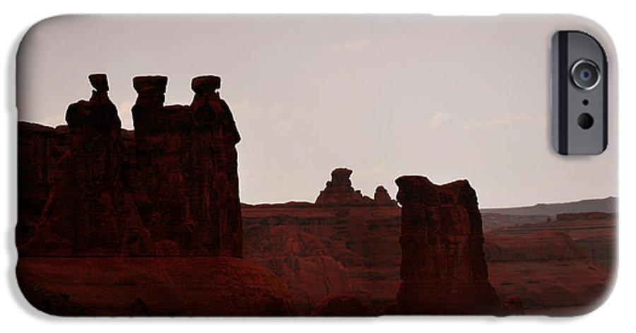 Landscape IPhone 6s Case featuring the photograph The Three Gossips Arches National Park Utah by Christine Till