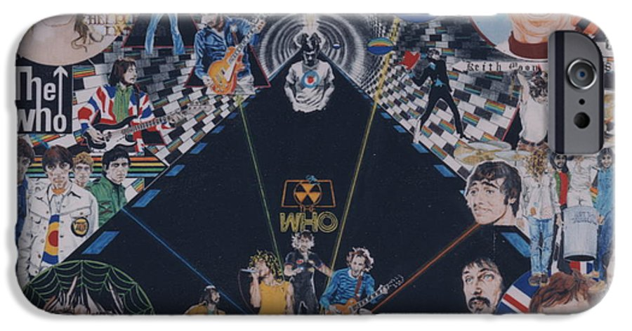Pete Townshend;roger Daltrey;john Entwistle;keith Moon;quadrophenia;opera;story;four;music;guitars;lasers;mods;rockers;london;brighton;1964 IPhone 6s Case featuring the drawing The Who - Quadrophenia by Sean Connolly