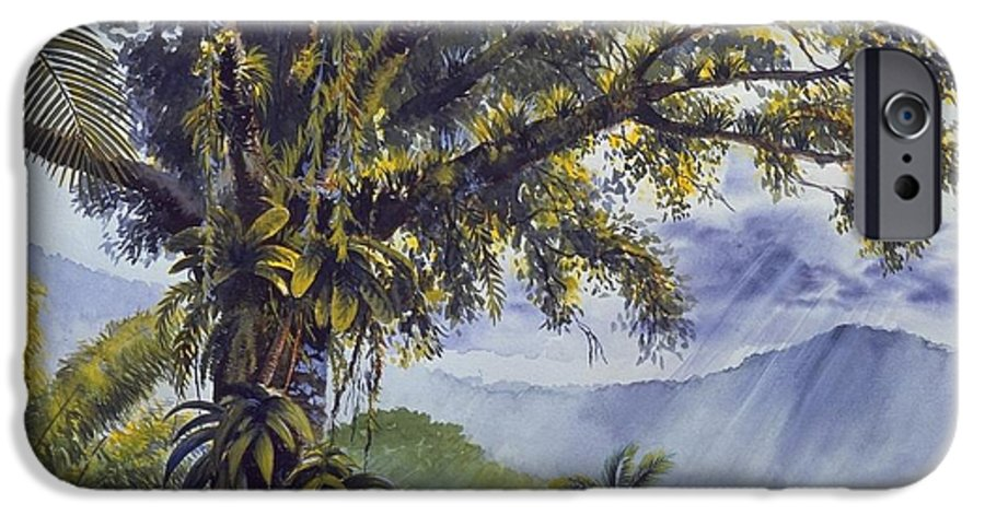 Chris Cox IPhone 6s Case featuring the painting Through The Canopy by Christopher Cox