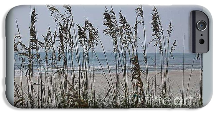 Florida Beach Near St. Augustine IPhone 6s Case featuring the photograph Thru The Sea Oats by Barb Montanye Meseroll