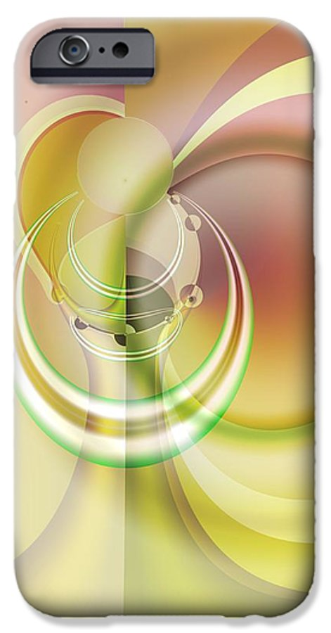 Fractal IPhone 6s Case featuring the digital art Time Warp Revisited by Frederic Durville
