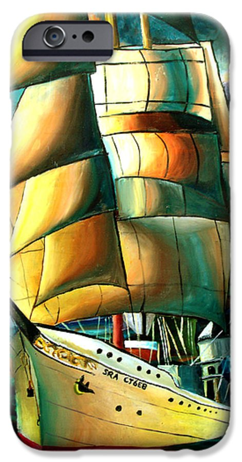 Ship IPhone 6s Case featuring the drawing Timeless by Darcie Duranceau