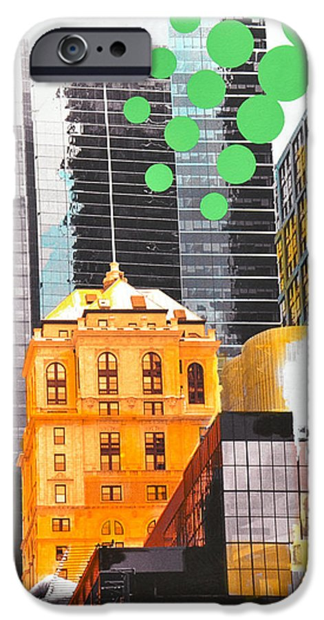 Ny IPhone 6s Case featuring the painting Times Square Ny Advertise by Jean Pierre Rousselet