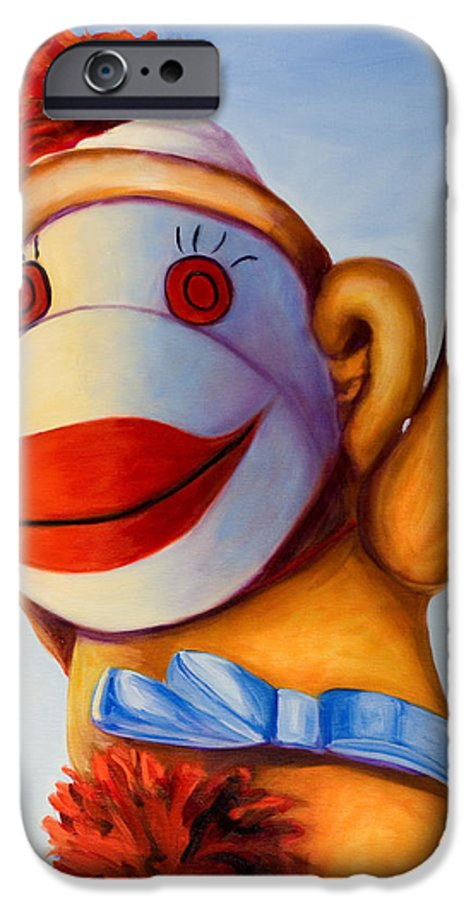 Children IPhone 6s Case featuring the painting Touchdown by Shannon Grissom