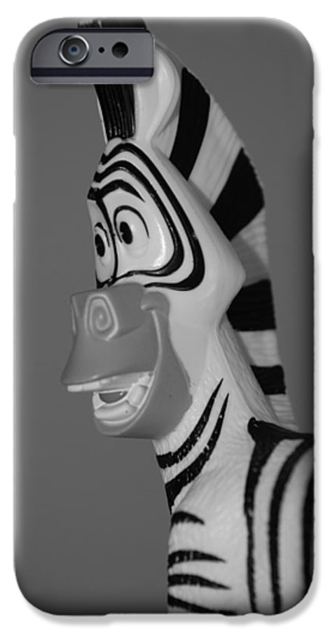 Black And White IPhone 6s Case featuring the photograph Toy Zebra by Rob Hans