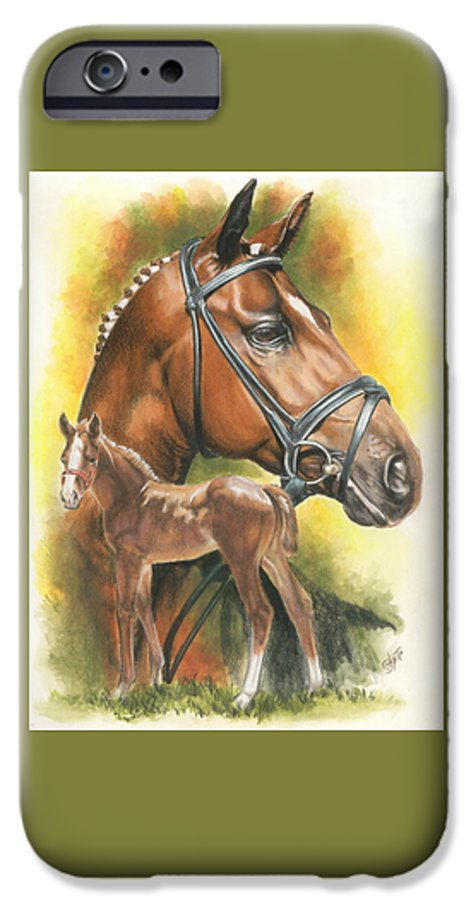 Jumper Hunter IPhone 6s Case featuring the mixed media Trakehner by Barbara Keith