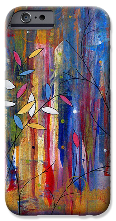 Abstract IPhone 6s Case featuring the painting Tres Jolie by Ruth Palmer