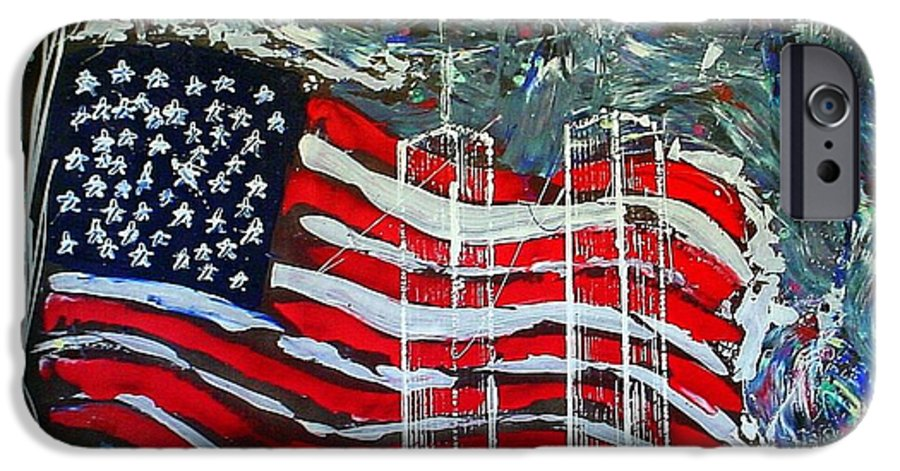 American Flag IPhone 6s Case featuring the mixed media Tribute by J R Seymour