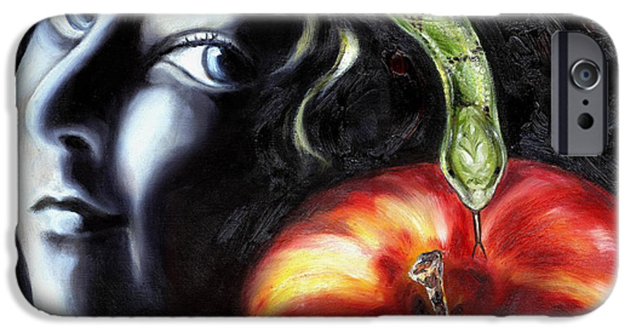 Adam And Eve IPhone 6s Case featuring the painting Trouble Makers by Hiroko Sakai