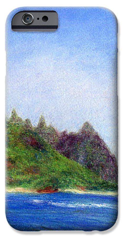 Rainbow Colors Pastel IPhone 6s Case featuring the painting Tunnels Beach View by Kenneth Grzesik