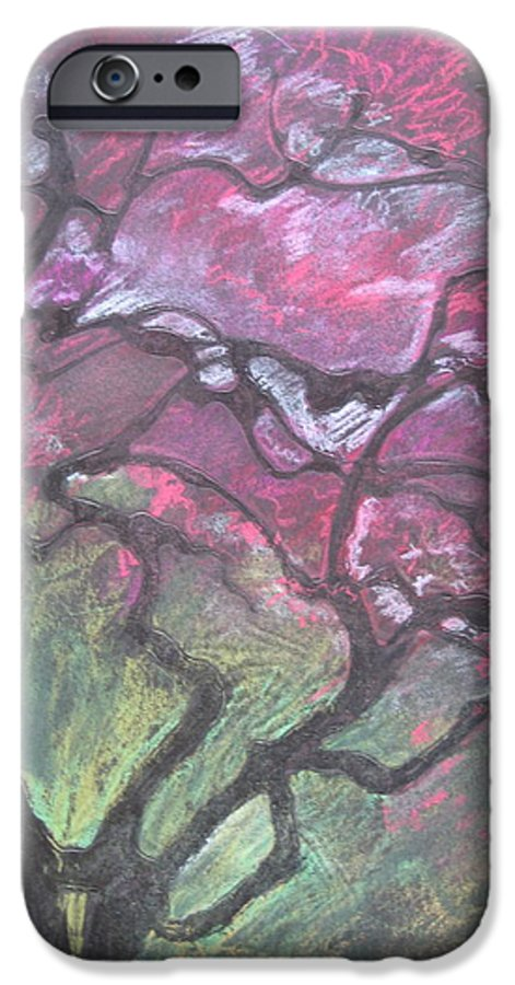 Pastel IPhone 6s Case featuring the drawing Twisted Cherry by Leah Tomaino