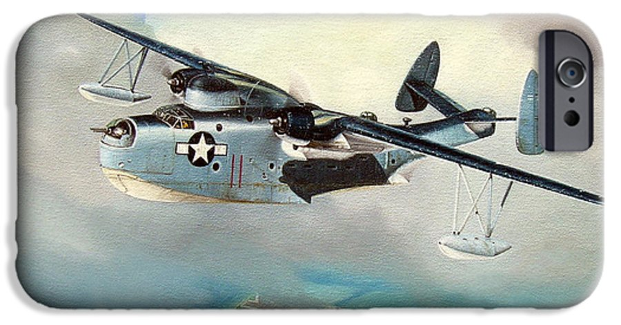 Military IPhone 6s Case featuring the painting Uncle Bubba's Flying Boat by Marc Stewart