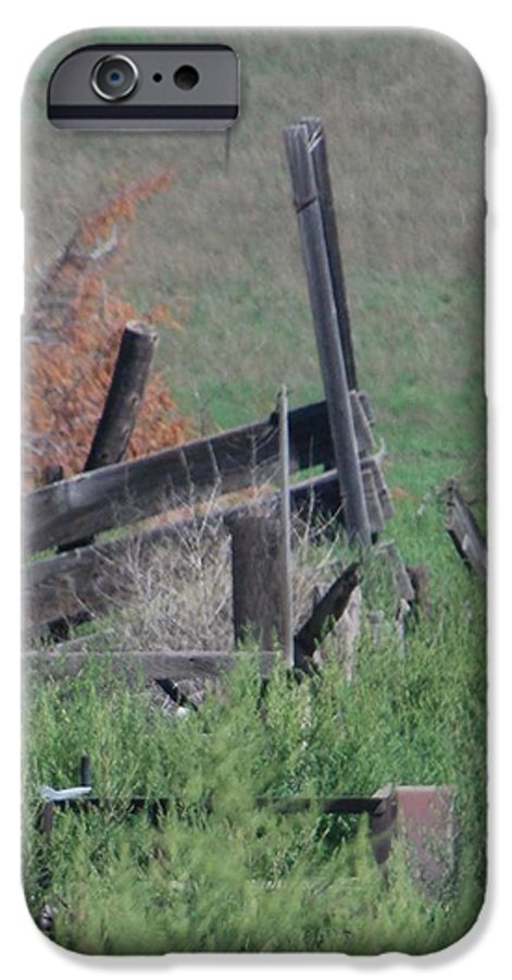 Farm IPhone 6s Case featuring the photograph Untended Fences by Margaret Fortunato