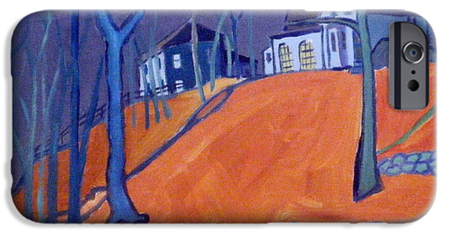 Houses On A Hill IPhone 6s Case featuring the painting Up Above Dunstable by Debra Bretton Robinson
