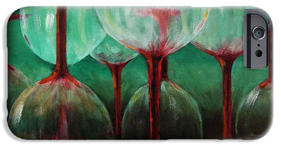 Oil IPhone 6s Case featuring the painting Upsidedown by Linda Hiller