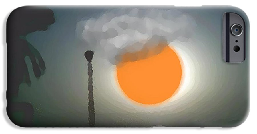 Urban.sea.sunset.sky.sun.water Sun Reflection.coast. IPhone 6s Case featuring the digital art Urban Sea Sunset by Dr Loifer Vladimir
