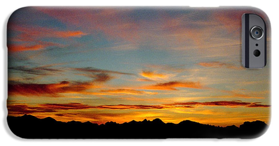 Arizona Sunset IPhone 6s Case featuring the photograph Usery Sunset by Randy Oberg