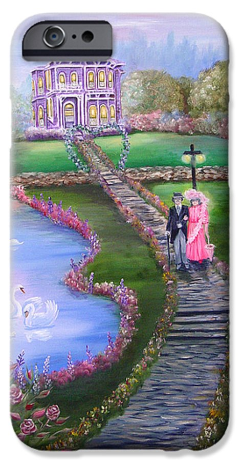 Victorian IPhone 6s Case featuring the painting Victorian Romance 2 by Quwatha Valentine