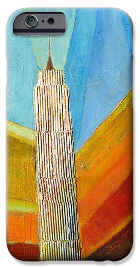 Abstract Cityscape IPhone 6s Case featuring the painting View From 34th St by Habib Ayat