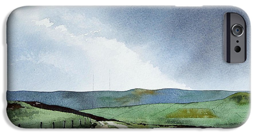Landscape IPhone 6s Case featuring the painting View Over Pole Moor by Paul Dene Marlor
