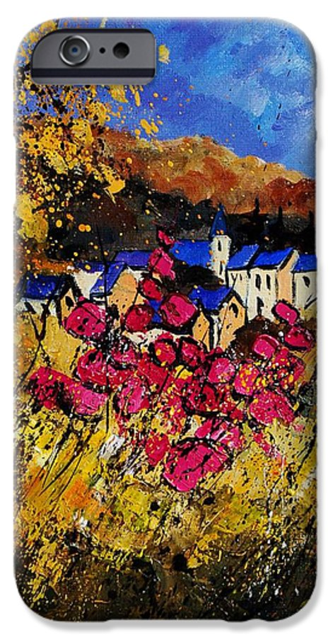 Flowers IPhone 6s Case featuring the painting Village 450808 by Pol Ledent