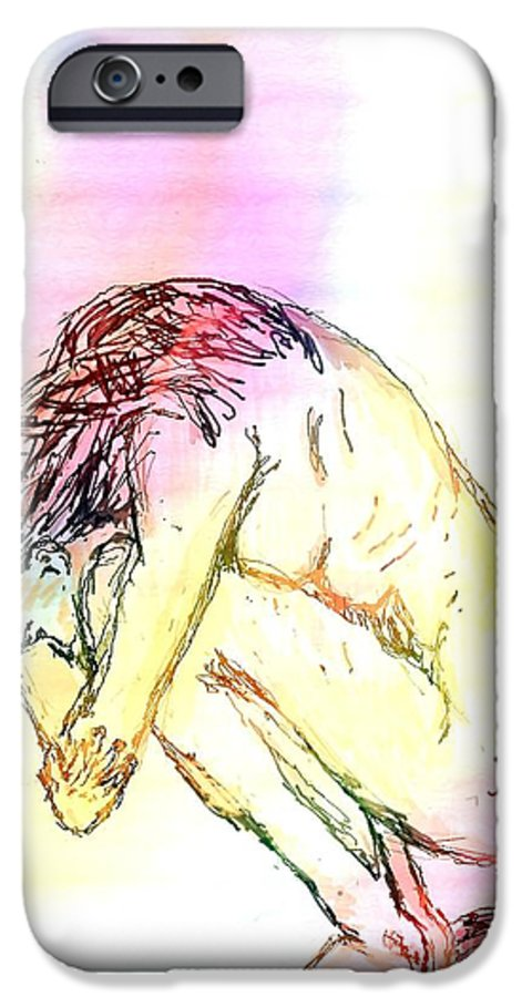 Lady IPhone 6s Case featuring the digital art Waiting For The Wounds To Heal by Shelley Jones