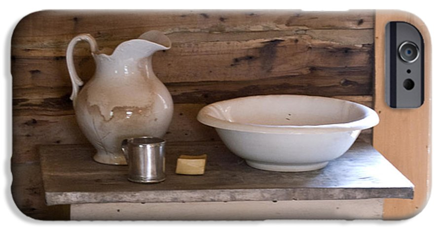 Wash IPhone 6s Case featuring the photograph Wash Bowl Pitcher And Cup by Douglas Barnett