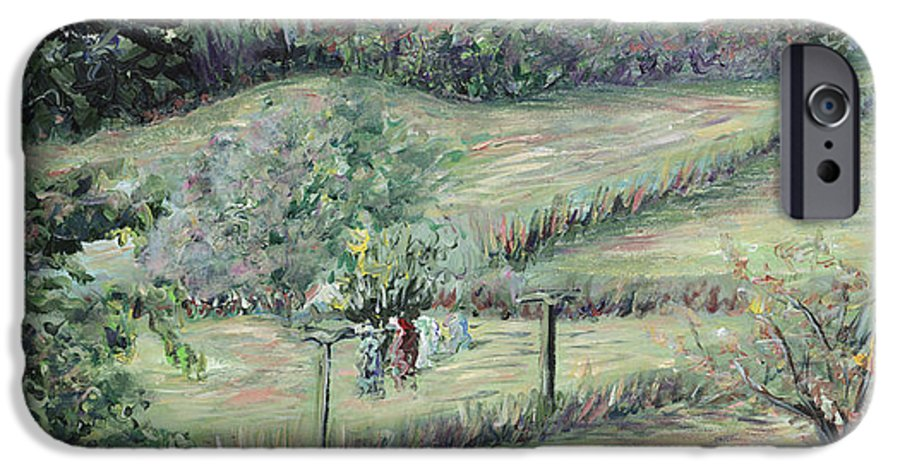 Landscape IPhone 6s Case featuring the painting Washday In Provence by Nadine Rippelmeyer