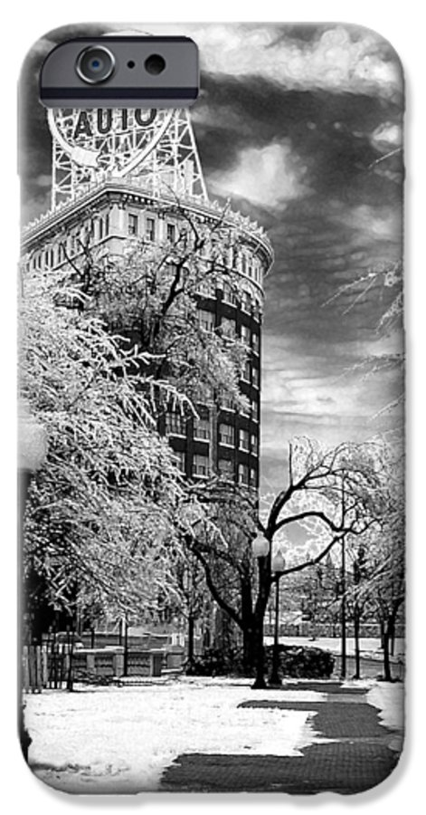 Western Auto Kansas City IPhone 6s Case featuring the photograph Western Auto In Winter by Steve Karol