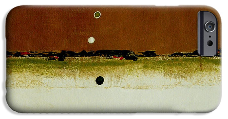 Abstract IPhone 6s Case featuring the painting Whats Your Line by Ruth Palmer