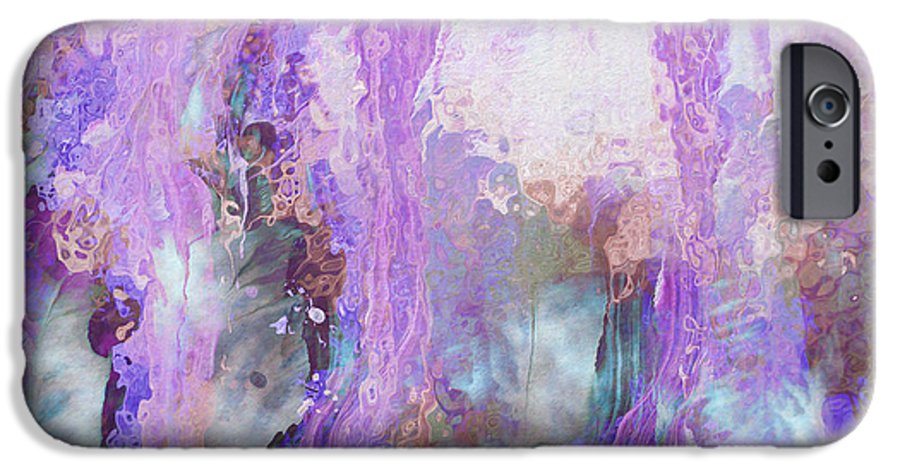 Abstract Art IPhone 6s Case featuring the digital art Whisper Softly by Linda Murphy