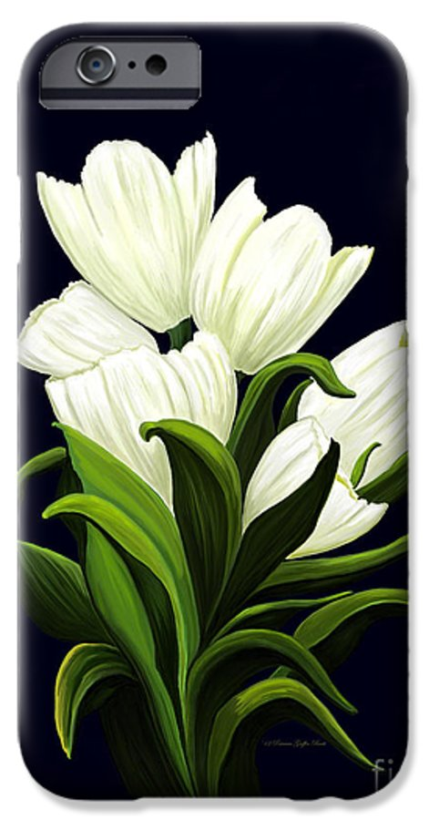 Mixed Media IPhone 6s Case featuring the painting White Tulips by Patricia Griffin Brett