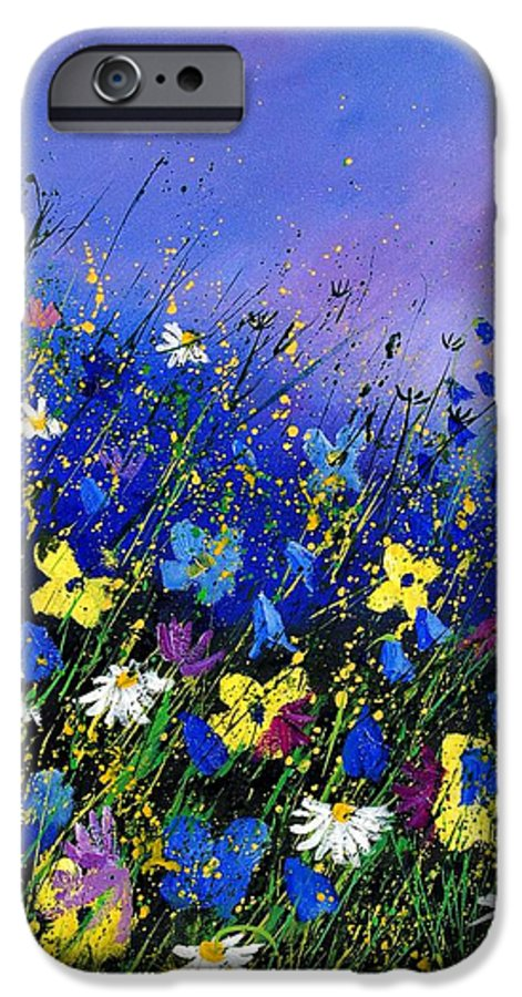 Flowers IPhone 6s Case featuring the painting Wild Flowers 560908 by Pol Ledent