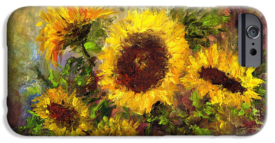 Vincent Van Gogh IPhone 6s Case featuring the painting Wild Sun by Laura Swink