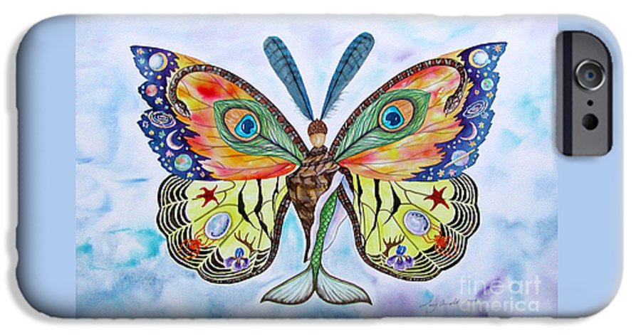Butterfly IPhone 6s Case featuring the painting Winged Metamorphosis by Lucy Arnold