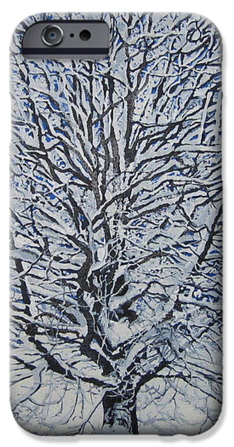 Winter IPhone 6s Case featuring the painting Winter '05 by Leah Tomaino