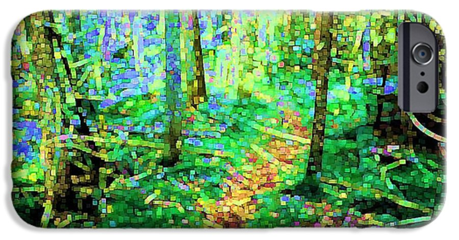 Nature IPhone 6s Case featuring the digital art Wooded Trail by Dave Martsolf
