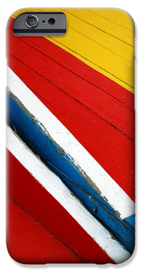 Red IPhone 6s Case featuring the photograph Xochimilco Boat Abstract 1 by Skip Hunt