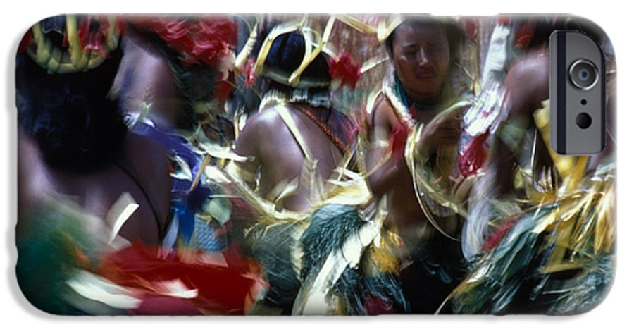 Swirling IPhone 6s Case featuring the photograph Yap Dancers In Micronesia by Carl Purcell