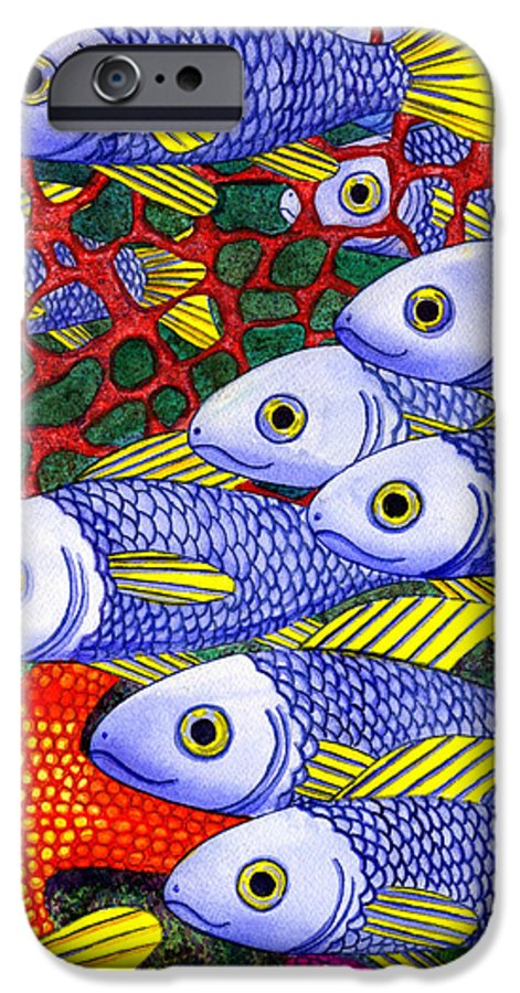 Fish IPhone 6s Case featuring the painting Yellow Fins by Catherine G McElroy