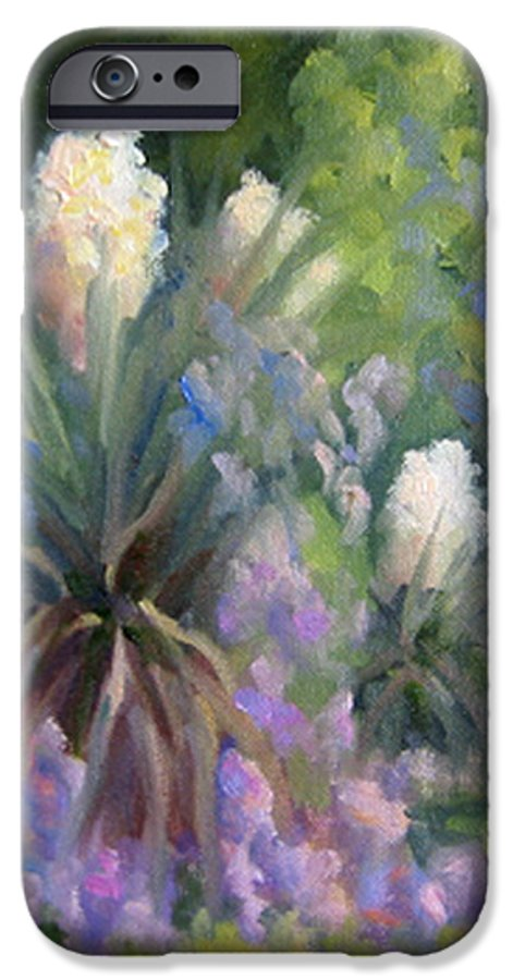 Yucca IPhone 6s Case featuring the painting Yucca And Wisteria by Bunny Oliver