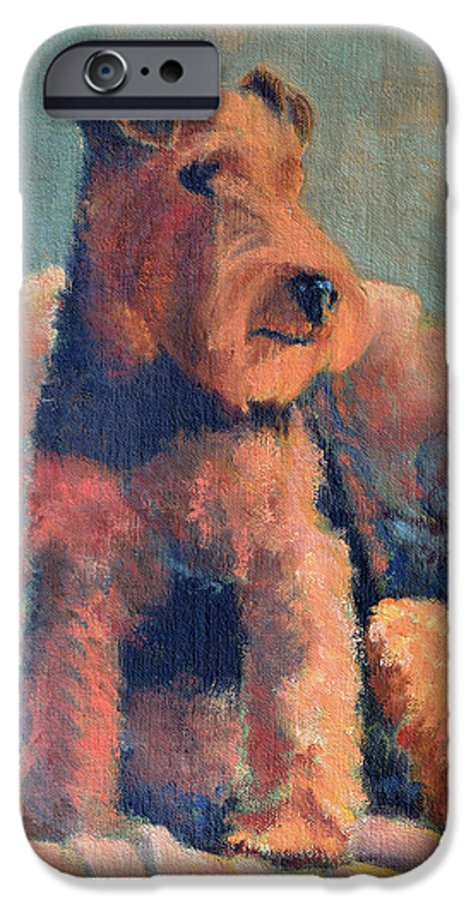 Pet IPhone 6s Case featuring the painting Zuzu by Keith Burgess