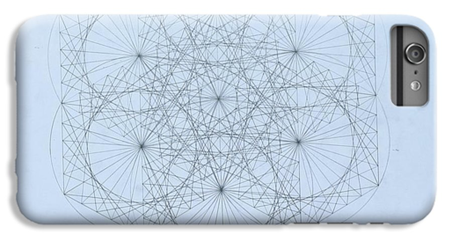 Jason Padgett IPhone 6s Plus Case featuring the drawing Quantum Snowflake by Jason Padgett